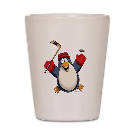 Hockey Penguin Shot Glass