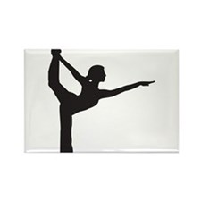 Bikram Yoga Bow Pose Rectangle Magnet