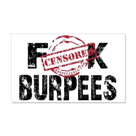 FK BURPEES - WHITE.psd 20x12 Wall Decal