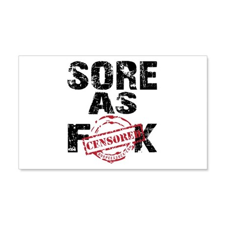 SORE AS FK - WHITE.psd 20x12 Wall Decal
