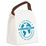 azul.png Canvas Lunch Bag