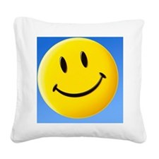 Smiley face symbol - Square Canvas Pillow
