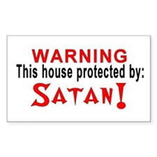 Protected By: Satan Rectangle Decal