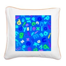 Dyslexia - Square Canvas Pillow