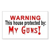 Protected By: My Guns! Rectangle Decal