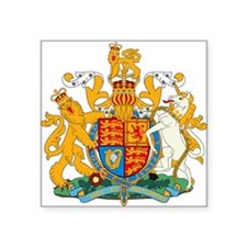 British Coat of Arms Rectangle Sticker