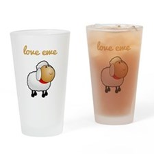 Love Ewe Drinking Glass