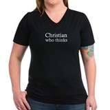 Christian who thinks hot chick shirt T-Shirt