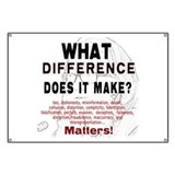 What Difference Does It Make Banner