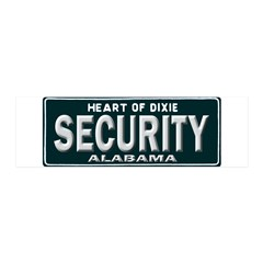 Alabama Security 20x6 Wall Decal