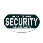 Alabama Security 35x21 Oval Wall Decal