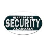 Alabama Security 20x12 Oval Wall Decal