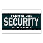 Alabama Security Sticker (Rectangle 10 pk)