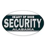 Alabama Security Sticker (Oval 50 pk)