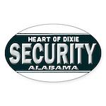 Alabama Security Sticker (Oval 10 pk)