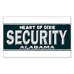 Alabama Security Sticker (Rectangle)