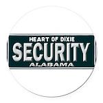Alabama Security Round Car Magnet
