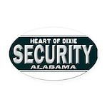 Alabama Security Oval Car Magnet