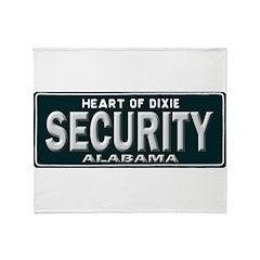 Alabama Security Throw Blanket