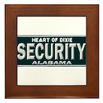 Alabama Security Framed Tile