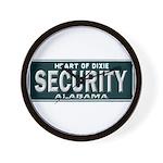 Alabama Security Wall Clock