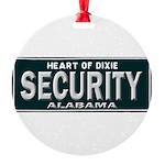 Alabama Security Round Ornament