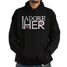 Mens I Adore Her Matching Hoodie