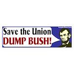 Save the Union Dump Bush Bumper Sticker