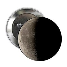 Waning crescent Moon - 2.25' Button (10 pack)