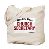 World's Best Church Secretary Tote Bag