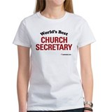 World's Best Church Secretary Tee
