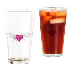 Tara-angel-wings.png Drinking Glass