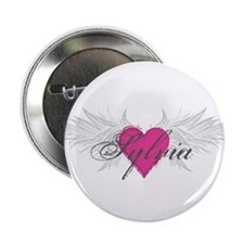 "Sylvia-angel-wings.png 2.25"" Button"