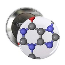 Theobromine molecule - 2.25' Button (100 pack)