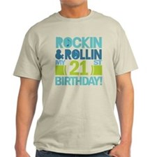 21st Birthday Rock and Roll T-Shirt