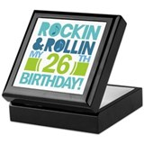 26th Birthday Rock and Roll Keepsake Box