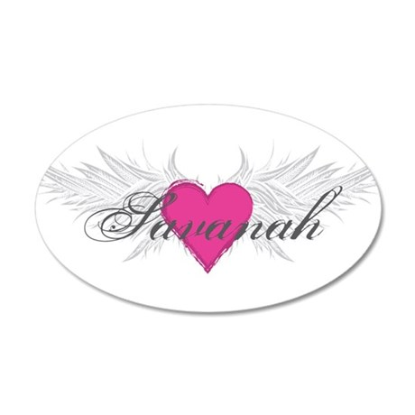 Savanah-angel-wings.png 20x12 Oval Wall Decal