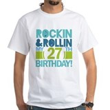 27th Birthday Rock and Roll Shirt