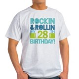28th Birthday Rock and Roll T-Shirt