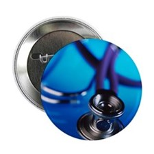 Stethoscope - 2.25' Button (100 pack)