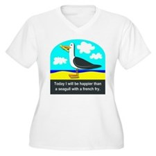 Happier than a Seagull with a French Fry T-Shirt