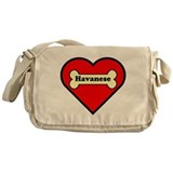 Havanese Heart Messenger Bag
