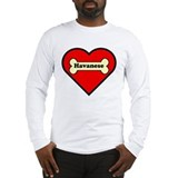 Havanese Heart Long Sleeve T-Shirt