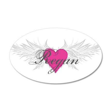 Regan-angel-wings.png 20x12 Oval Wall Decal