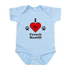 I Heart My French Mastiff Infant Bodysuit