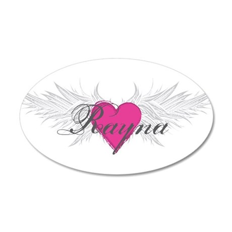 Rayna-angel-wings.png 35x21 Oval Wall Decal