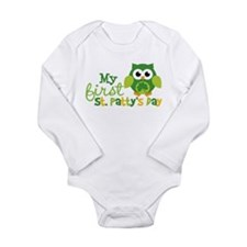 My 1st St. Patrick's Day Owl Body Suit