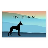 Ibizan Blue Mountains Oval Decal