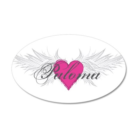 Paloma-angel-wings.png 35x21 Oval Wall Decal