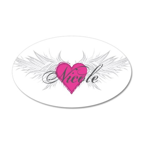 Nicole-angel-wings.png 20x12 Oval Wall Decal